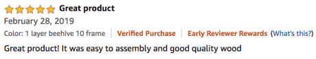 Happybuy Bee Box Langstroth Kit Product Review Testimonial