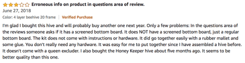Happybuy Langstroth Bee Box 4 Layer Review Testimonial