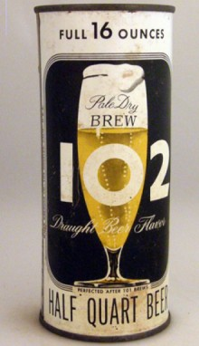 Brew 102 Pale Dry Brew Beer Can From Maier Brewing