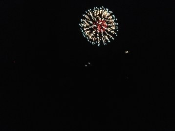 I know this is funny since we're Germans, but we still enjoyed the 4th of July fireworks!