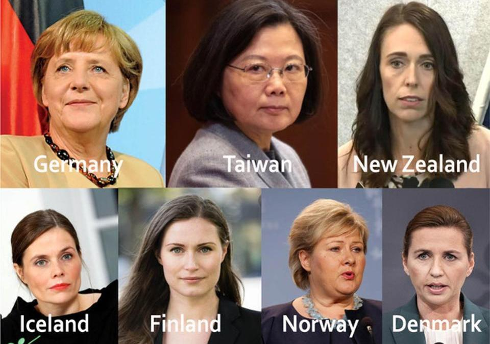 COVID-19: it cannot be a coincidence that countries headed by women Taiwan, Germany, New Zealand, etc — are doing comparatively well.
