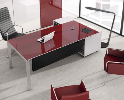 Bureau de direction luxe rouge