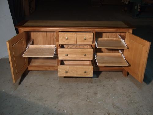 buffet inspiration orientale en bois