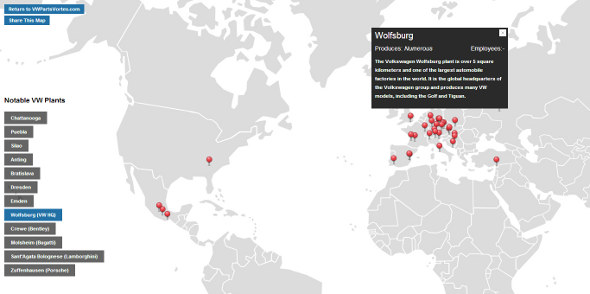 volkswagen automotive plants map