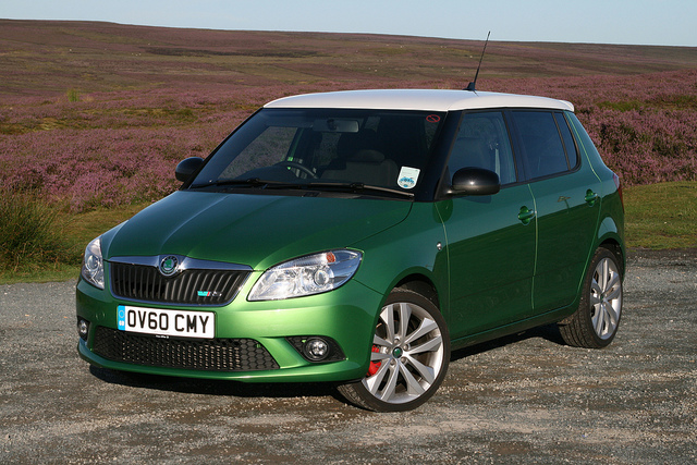 Skoda Fabia vRS in UK