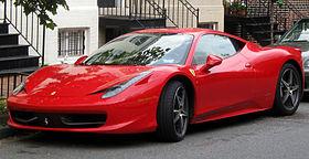 Ferrari 458 Spider Front View