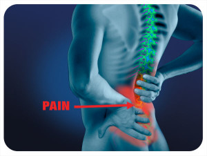 back pain in lower back