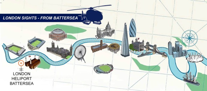 Map - London Sights (From Battersea)