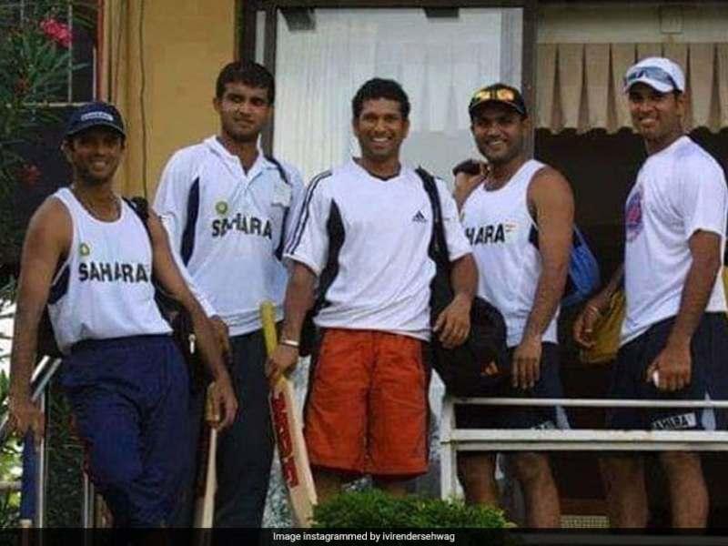 वीरेंद्र सहवाग ने सचिन तेंदुलकर, सौरव गांगुली, राहुल द्रविड़ और युवराज सिंह के साथ थ्रोबैक तस्वीर साझा की