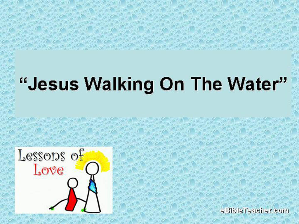Jesus Walking On The Water Flip Chart