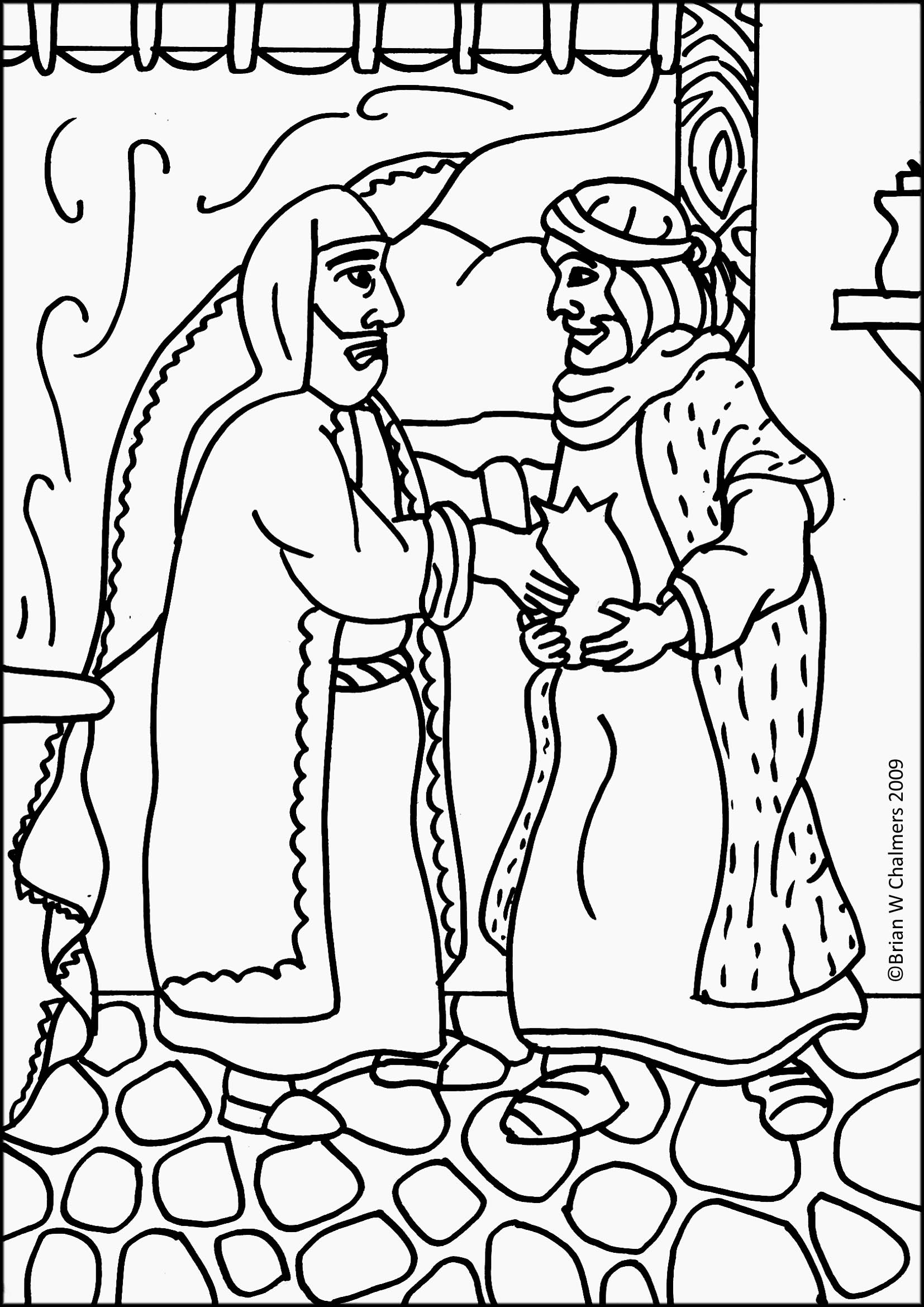 Luke 7 11 15 Bible Coloring Page Coloring Pages