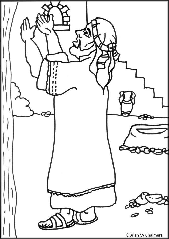 Zacchaeus The Tax Collector Coloring Pages Coloring