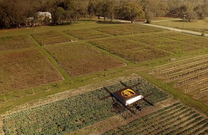 UPS prueba entrega residencial con drones lanzados desde el techo de un vehículo de entrega