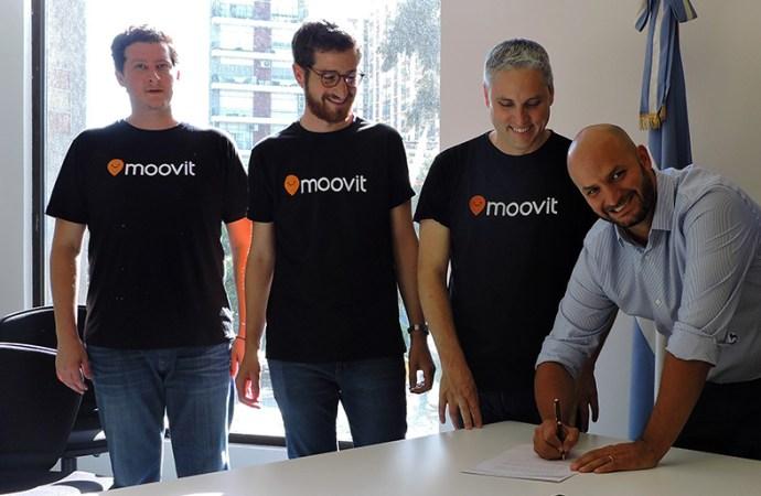 La ciudad de Buenos Aires firmó un acuerdo con Moovit