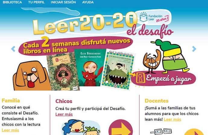 Fundación Leer lanzó Leer 20-20. El desafío
