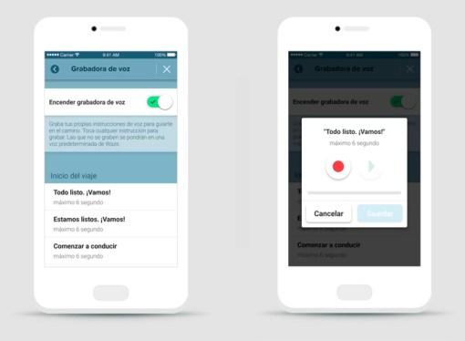 Waze permite grabar sus propios comandos de voz
