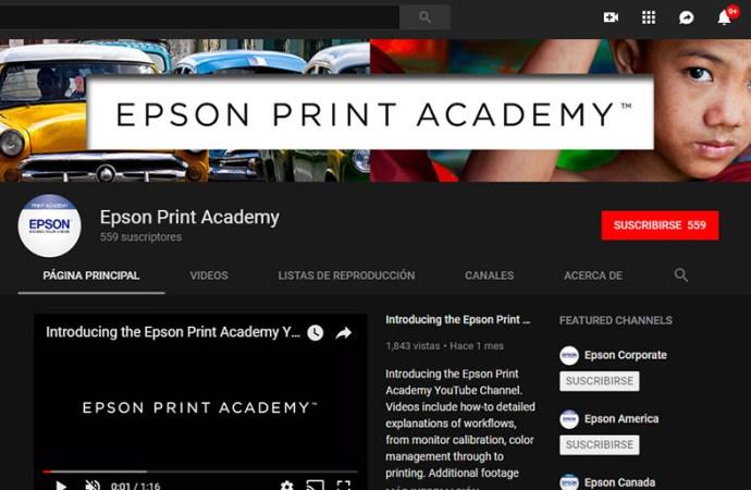 Epson lanzó su canal de YouTube Print Academy