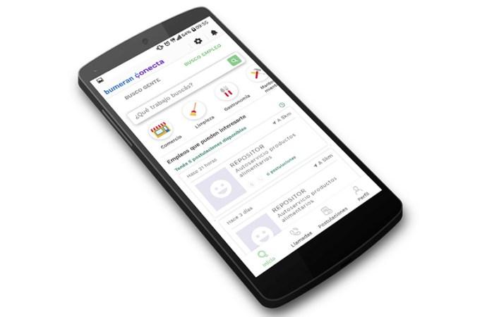 Bumeran lanzó Conecta, app para buscar trabajo cerca de ti