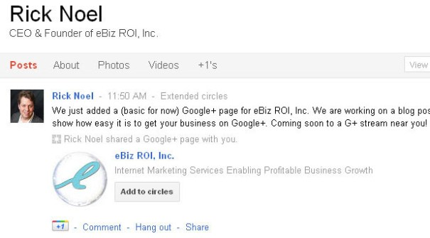 Google Plus Business Page Get the Word Out Share