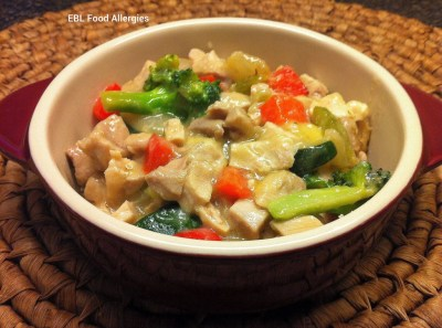 EBL Food Allergies: Crust-Free Chicken Pot Pie - top8free