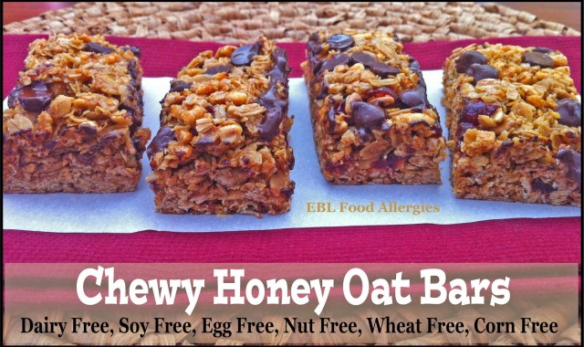 EBL Food Allergies: Chewy Honey Oat Bars