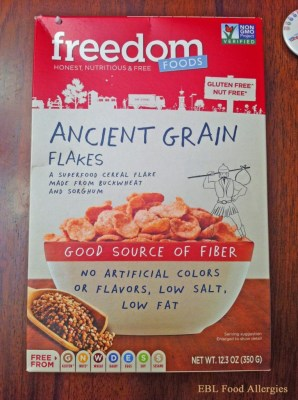Freedom Foods: Ancient Grain Flakes - allergy-friendly cereal