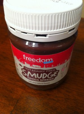 Freedom Foods: Smudge Cocoa Spread , allergy friendly