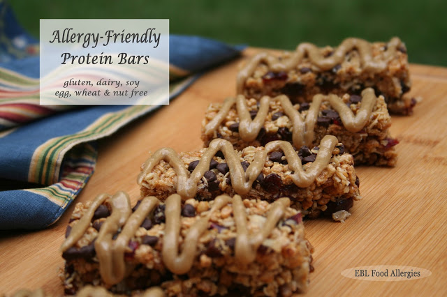 These look sooo good! I need to make them SOON! Chewy Allergy-Friendly Protein Bar Recipe - dairy free, soy free, nut free, egg free, gluten free