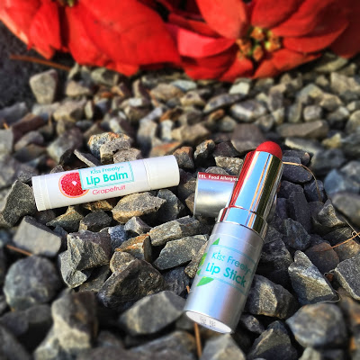 Lipstick and lip balm free of the top 8 allergens make great stocking stuffers!
