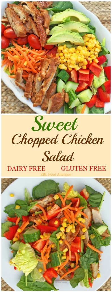 Try this dairy-free gluten-free Sweet Chopped Chicken Salad for your next party!