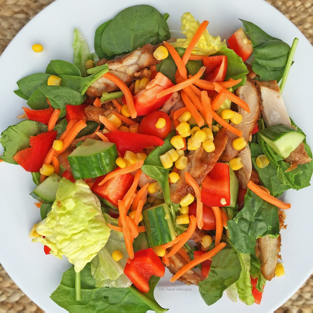 Sweet Dairy Free Chopped Chicken Salad is free of dairy, egg, wheat, gluten and can also be made soy free.