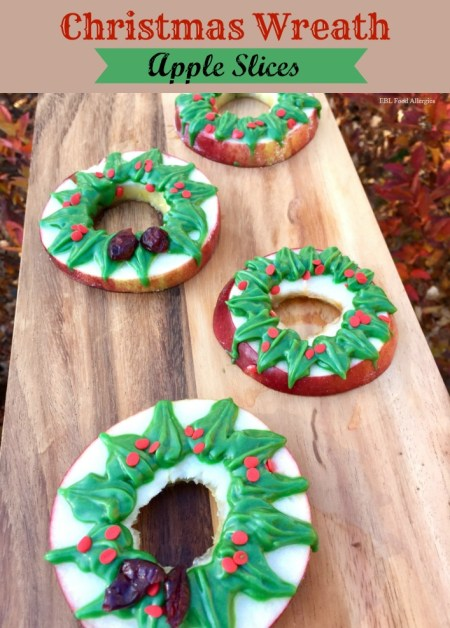 Top8 & Gluten Free Christmas Wreath Apple Slices