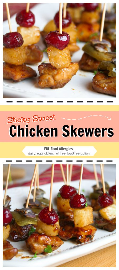 Sticky Sweet Chicken Appetizer - dairy, egg, nut, gluten free with top8free option
