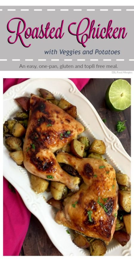 One Pan Roasted Chicken, gluten and top8 free