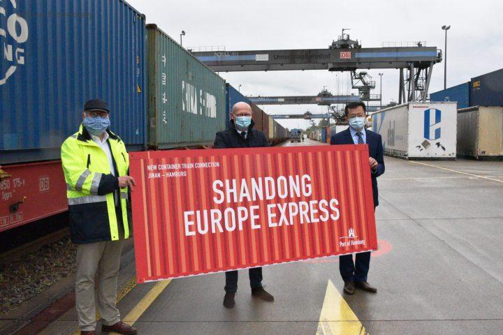 eBlue_economy_New Shandong-Europe Express links China and Hamburg