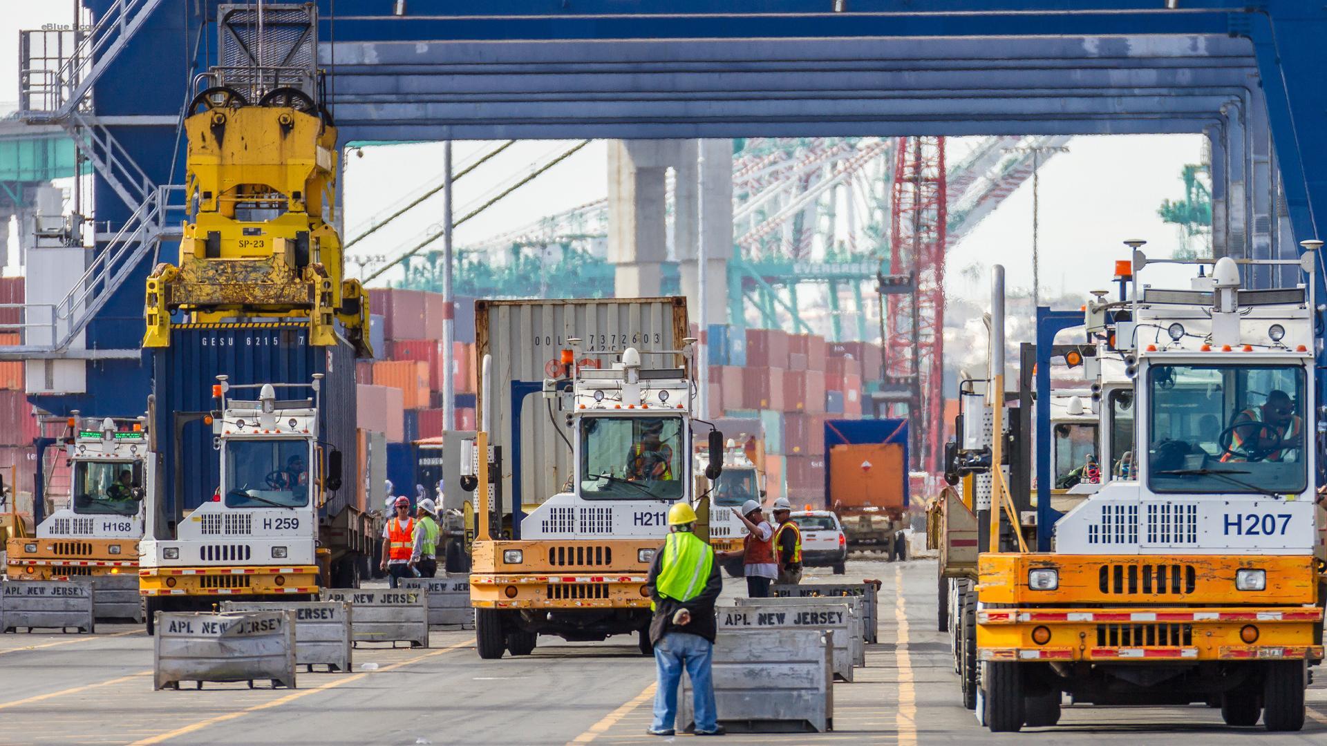 eBlue_economy_Donation to Logistics Victory Transported via Port of Los Angeles