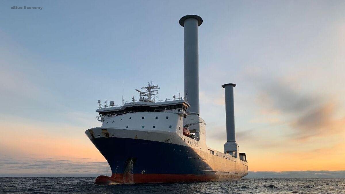eBlue_economy_Sea-Cargo roro will feature tiltable Norsepower rotor sails