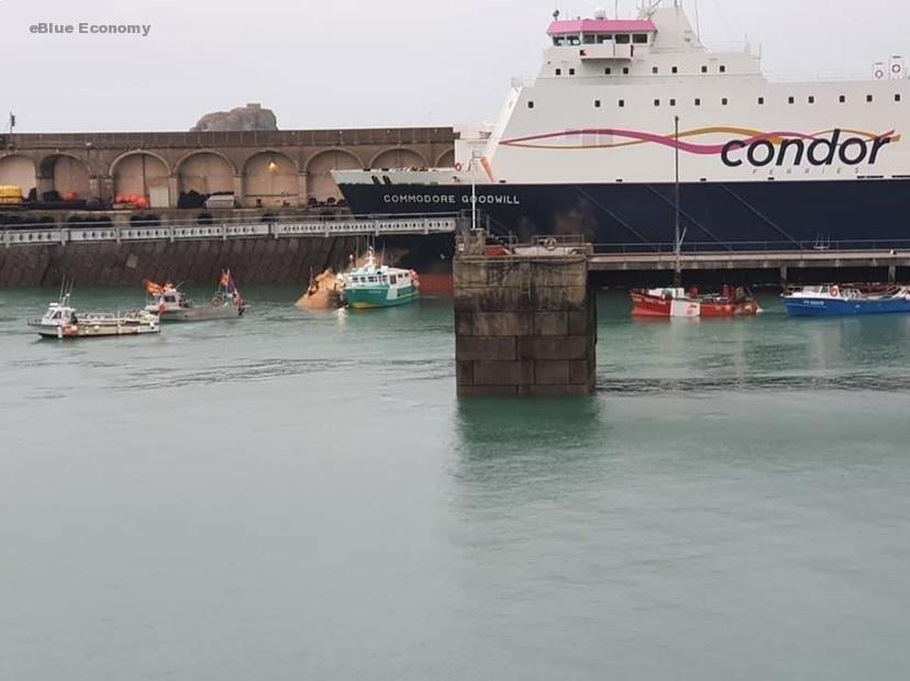eBlue_economy_ French fishers return home from Jersey as talks end in deadlock
