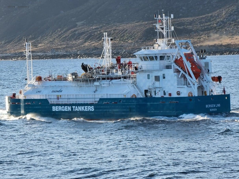 eBlue_economy_Bergen Tankers put into service its LNG bunker vessel