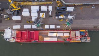 eBlue_economy_Moving a pyrolysis plant via port of Rotterdam