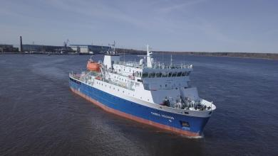 eBlue_economy_Nevsky Shipyard delivers cargo-passenger vessel of Project PV22, Pavel Leonov