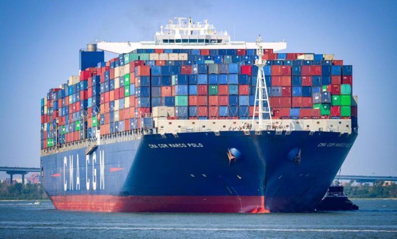 eBlue_economy_South Carolina Ports welcomes record-breaking CMA CGM MARCO POLO