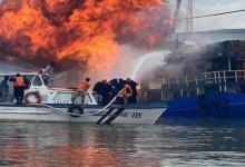 eBlue_economy_شاهد انفجار سفينة شحن فى احد موانئ مانيلا