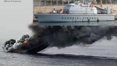 eBlue_economy_Italian Coast Guard patrol boat sank after fire Video