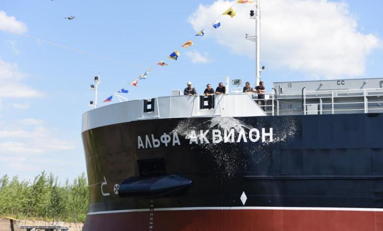 eBlue_economy_Krasnoye Sormovo shipyard launches RSD59 ship Alfa Aquilon