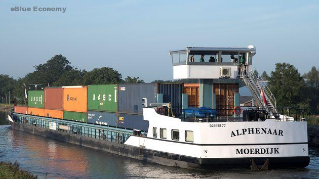 eBlue_economy_First emission-free inland shipping vessel on energy containers in service