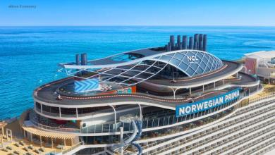 eBlue_economy_New cruise ship to feature world's first free-fall dry slide at sea and a three-level racetrack