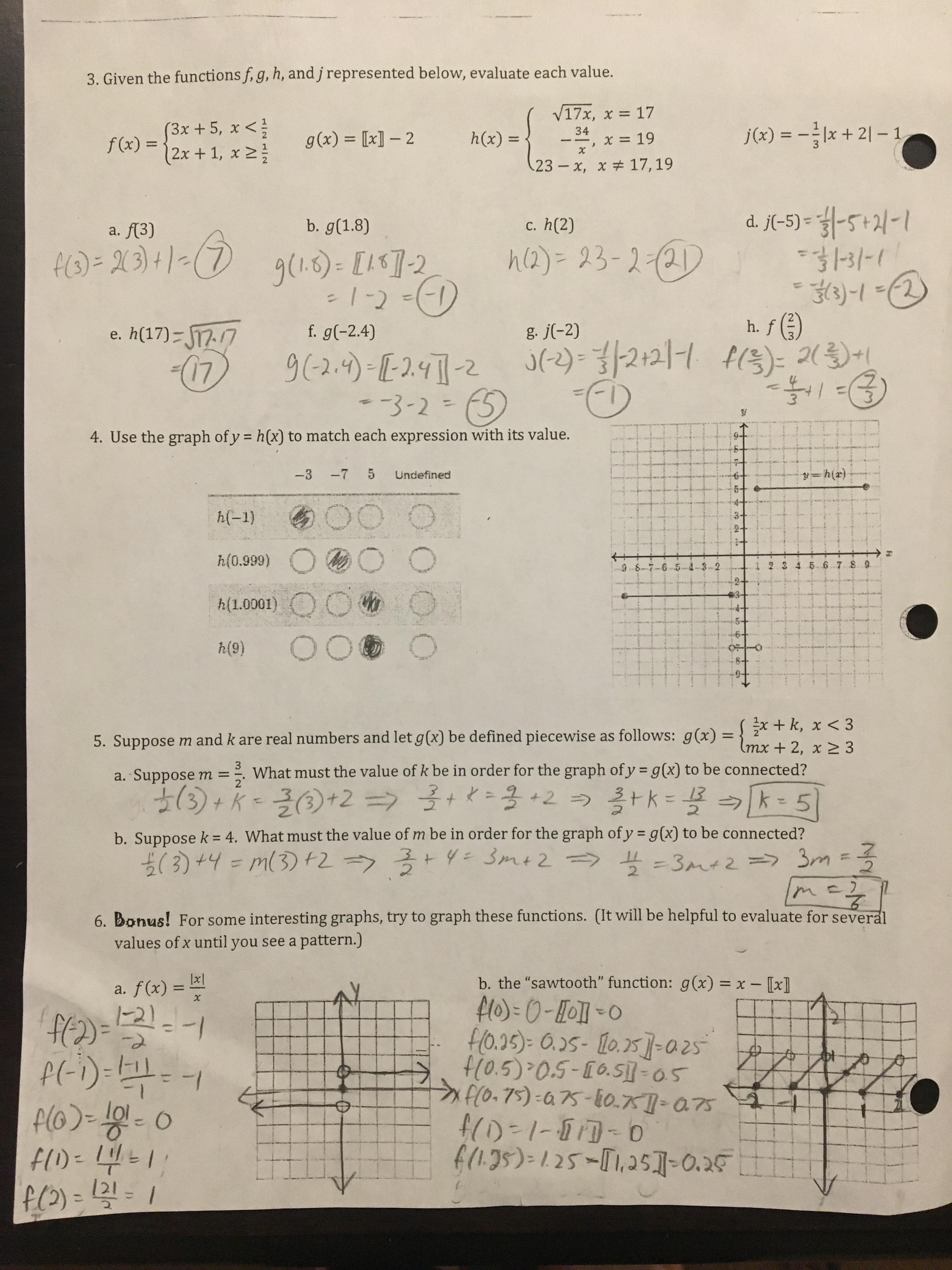 Geometry Unit 3 Review Worksheet Answers