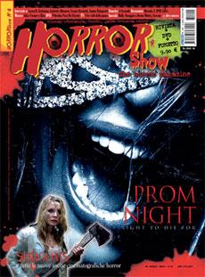 la cover del numero 4 di Horror Show
