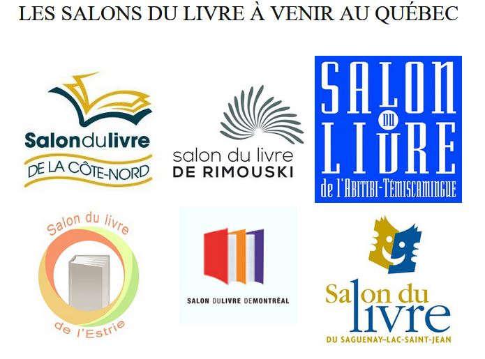 Les salons du livre à venir au Québec
